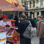 Product sampling on busy high street