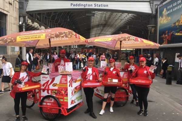 Product sampling carts with Special K, shopper marketing, shopper agency, retail marketing agency, active campaign