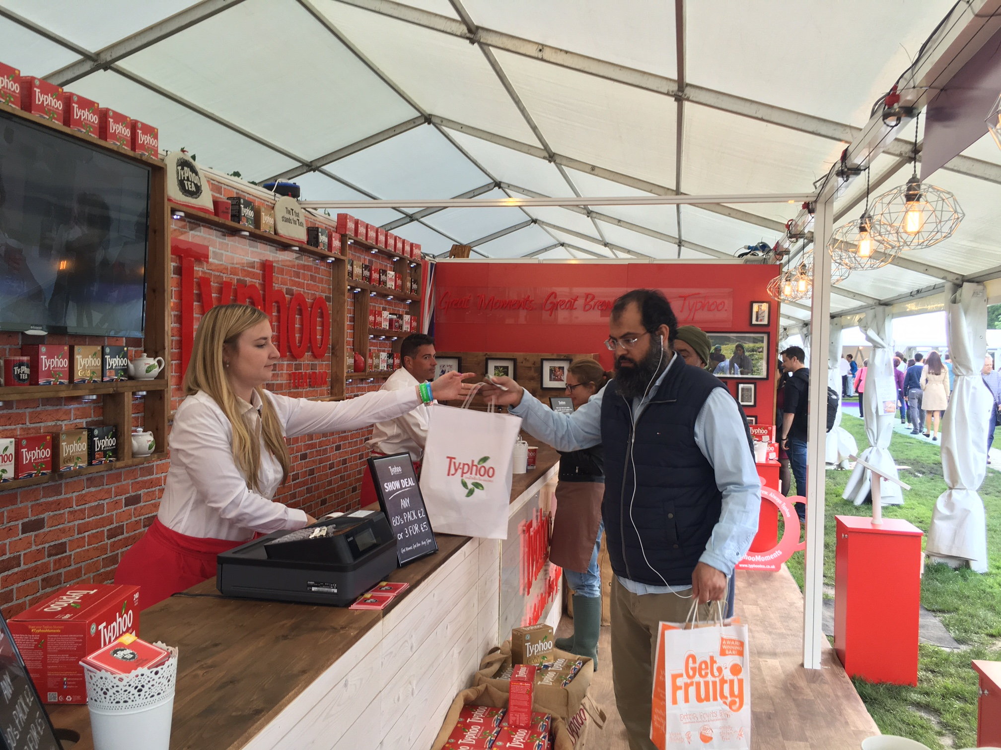 Consumer event sampling with Typhoo Tea