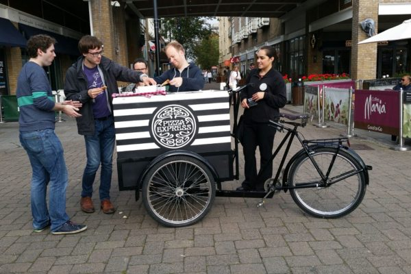 Experiential Marketing PizzaExpress - High Street Product Sampling Trike