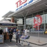 sampling Rustlers Burgers in Tesco Supermarkets
