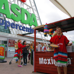 Product sampling in Asda supermarkets