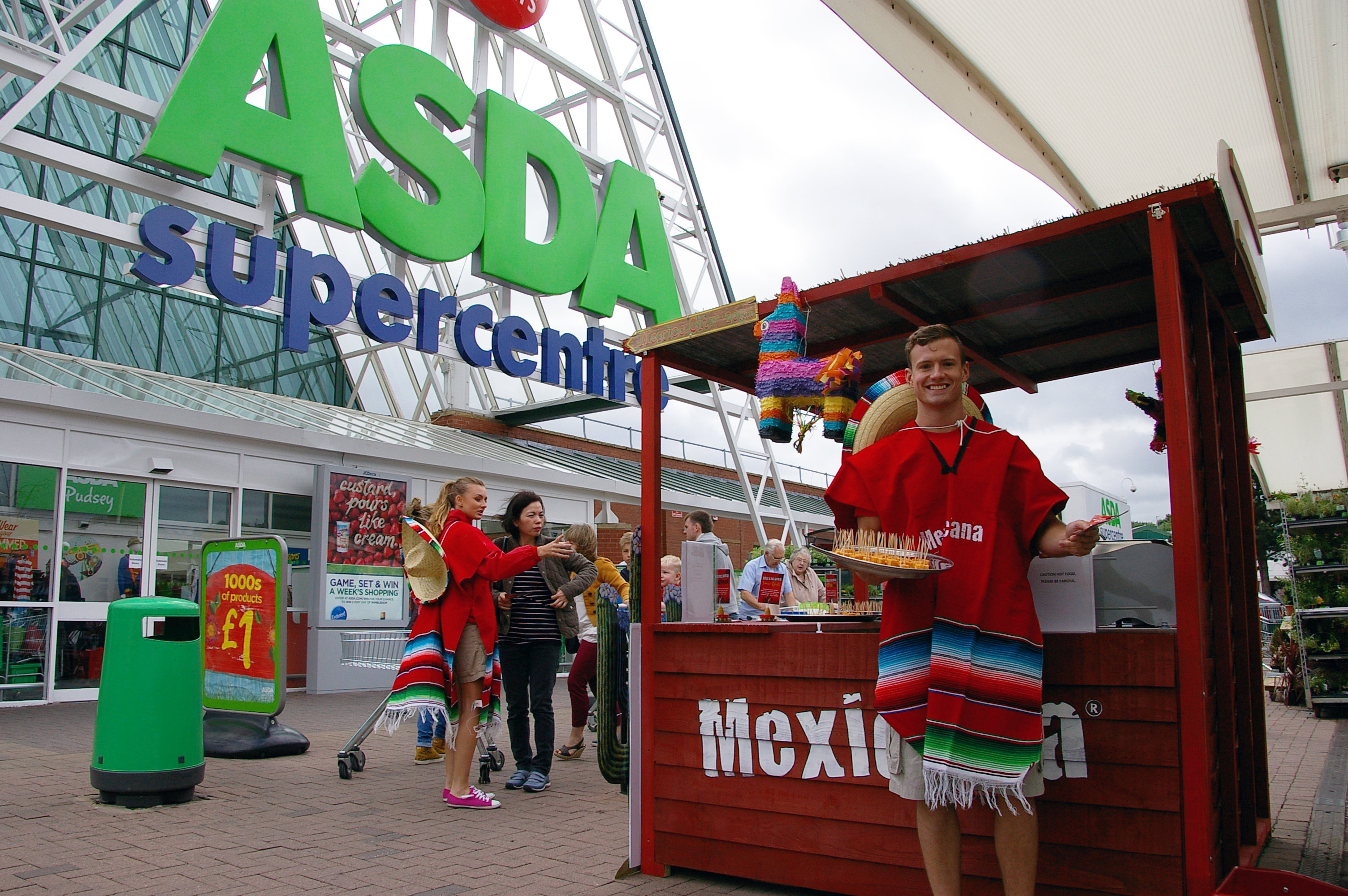 Product sampling in Asda supermarkets for Mexicana Cheese Product, Asda marketing, shopper marketing agency, retail marketing agency, examples