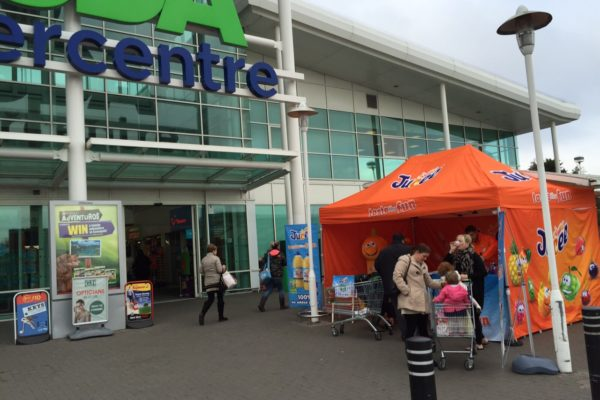 Product sampling in Asda Supermarkets Jucee Campaign