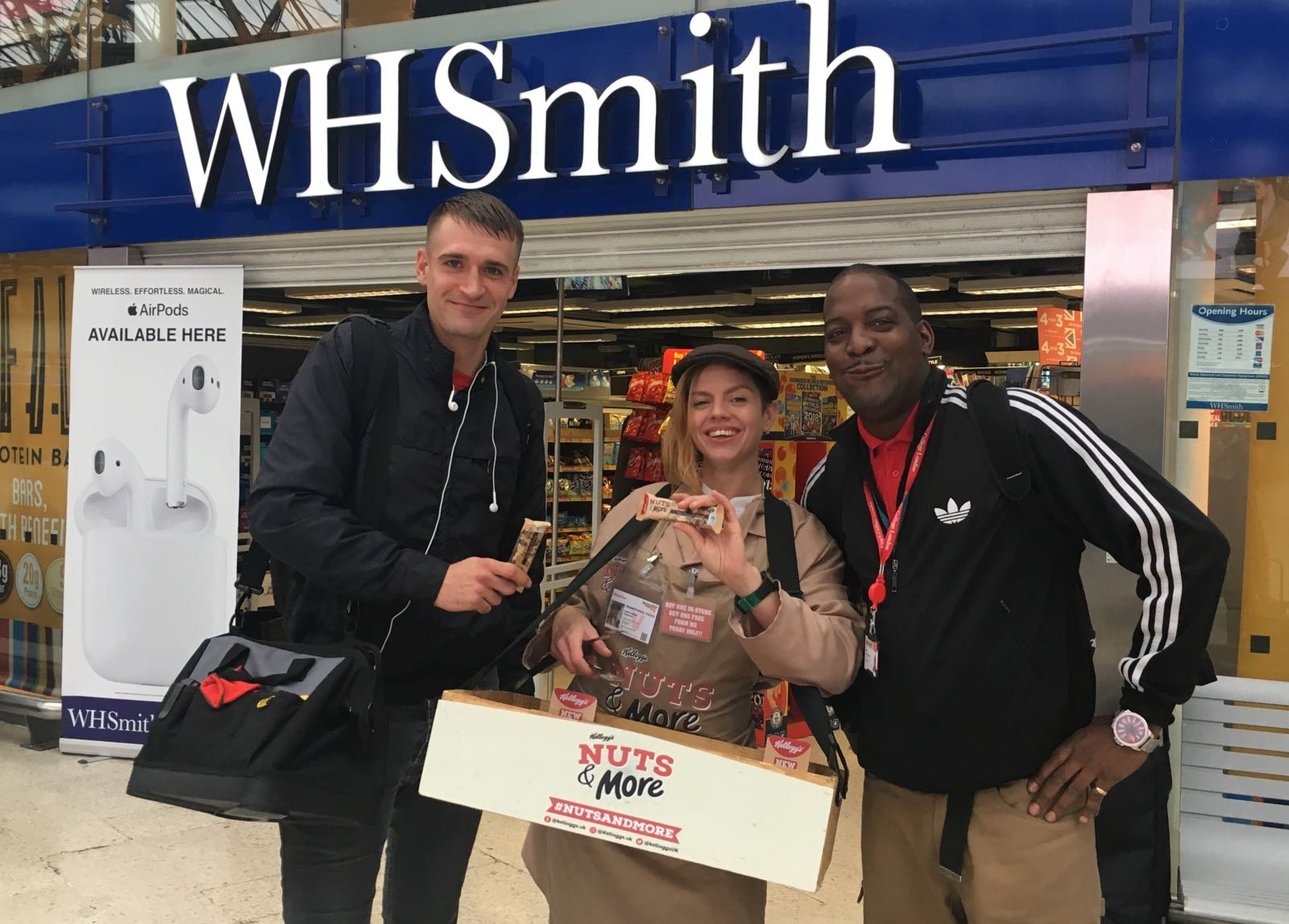 Experiential Marketing and product sampling outside wh smiths