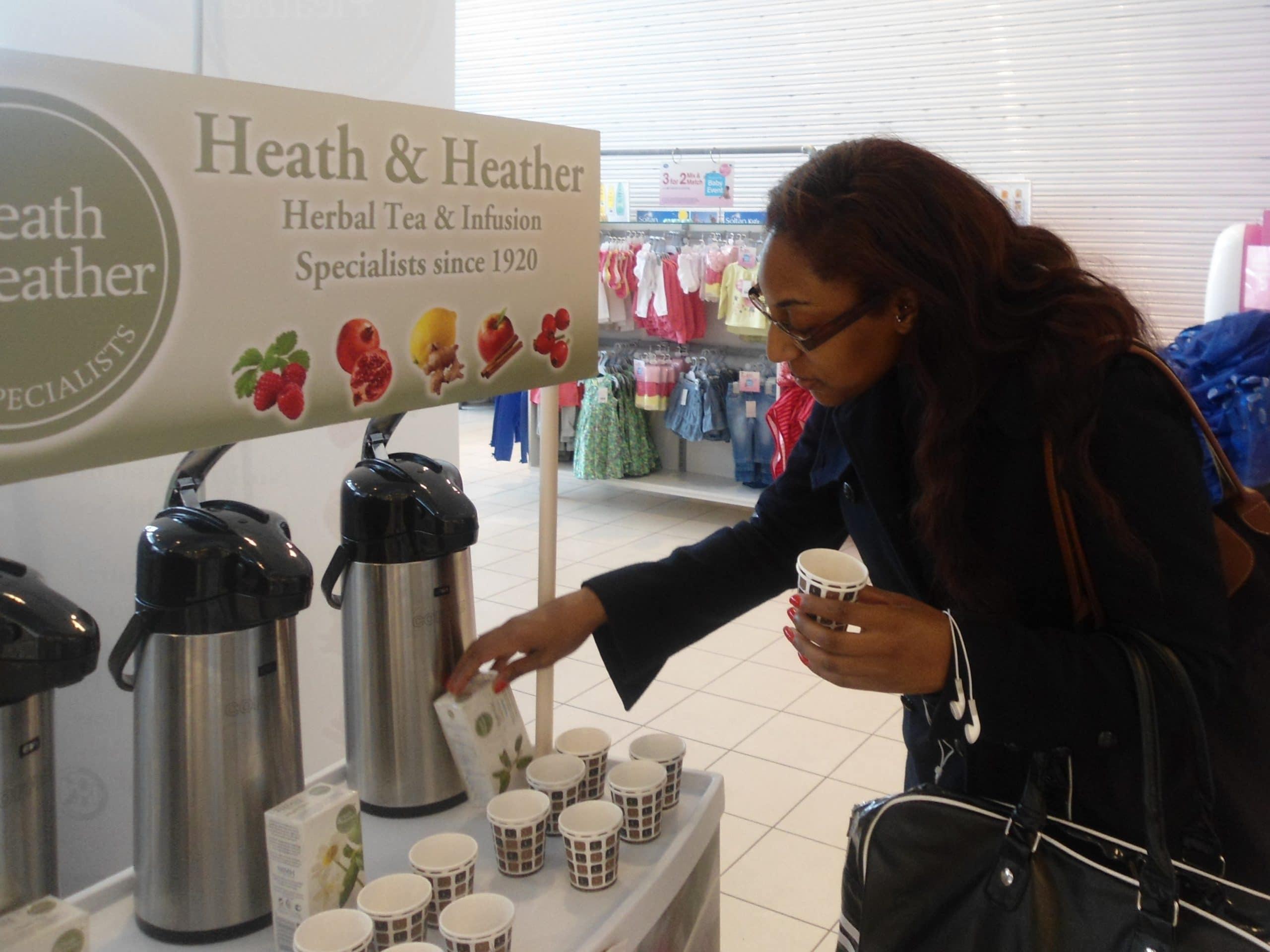 On aisle supermarket product Sampling, active campaign, affiliate marketing, shopper marketing, promotion