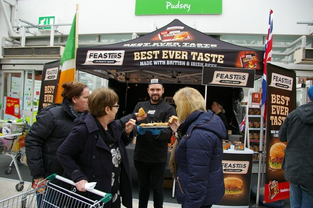 Feasters product sampling campaign at asda