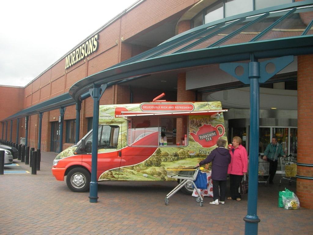 Morrisons sampling with Yorkshire Tea, active campaign, affiliate marketing, shopper marketing
