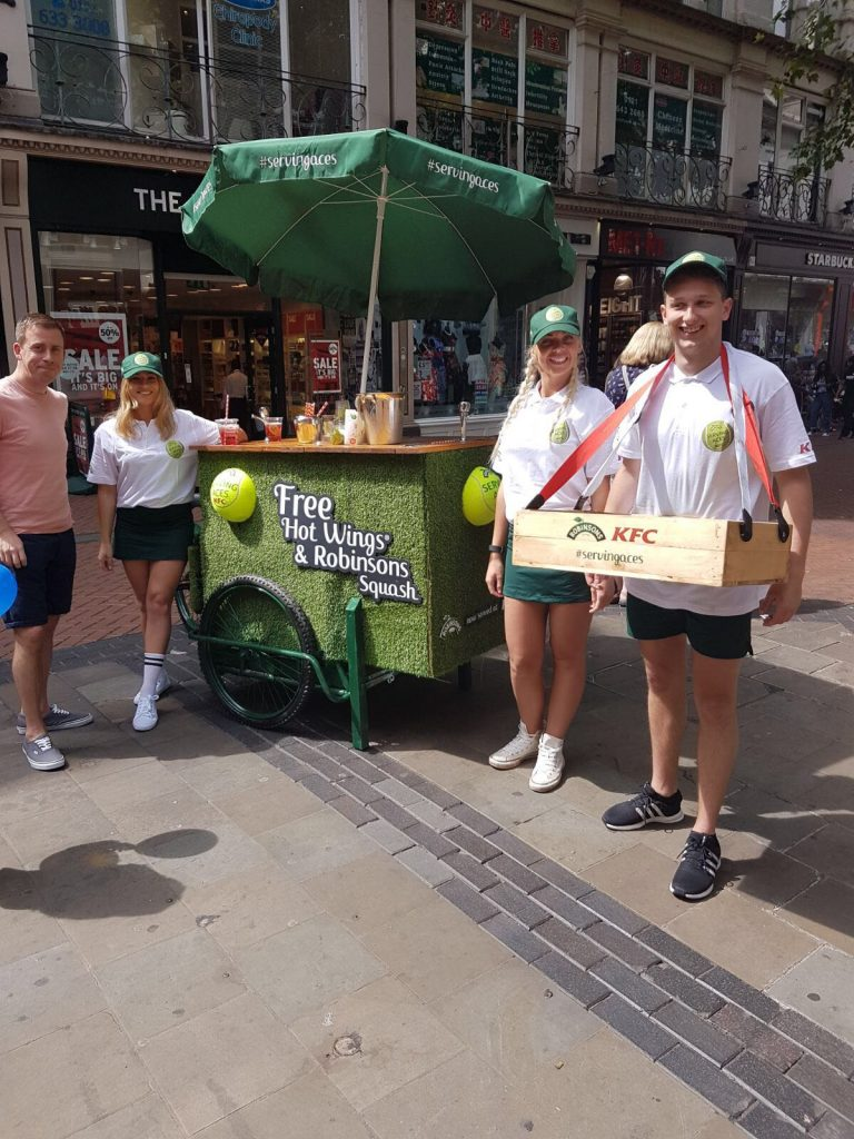 Product Sampling Experiential Marketing Robinsons London Streets