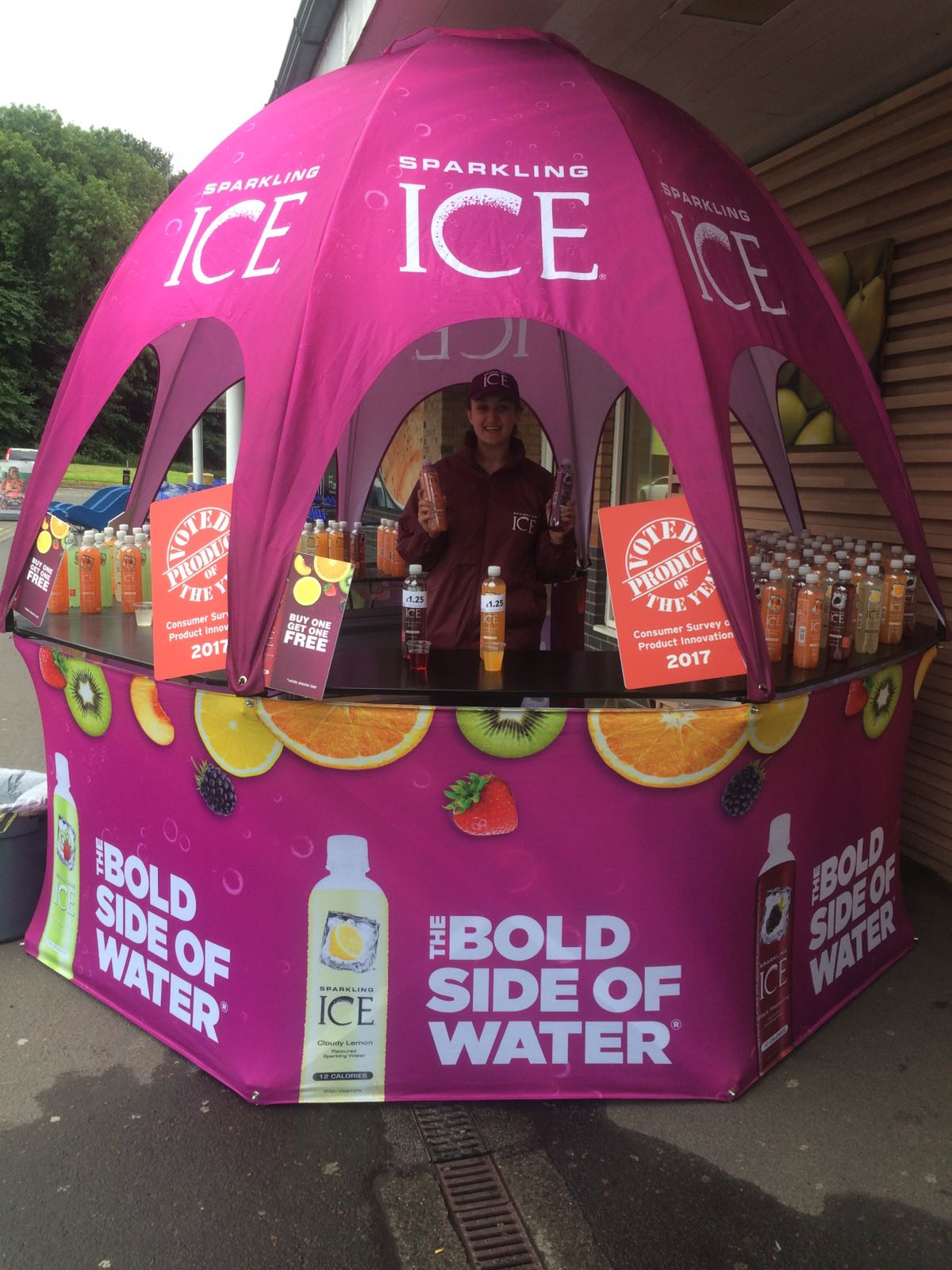 Marketing Product Sampling Vehicle Sparkling Ice-Bristol
