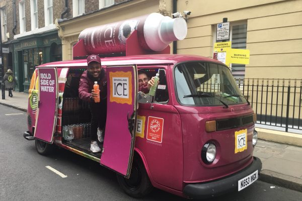 Marketing Product Sampling Vehicle Sparkling Ice-Bristol