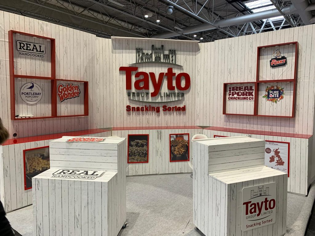 experiential Marketing product demonstration exhibition stand design, build and production Tayto - at NCS
