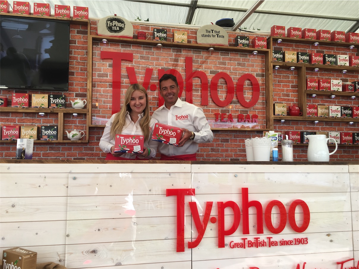 Trade show sampling with Typhoo ,shopper marketing, retail marketing agency, promotion, active campaign