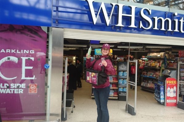 Convenience retail sampling at WH Smith