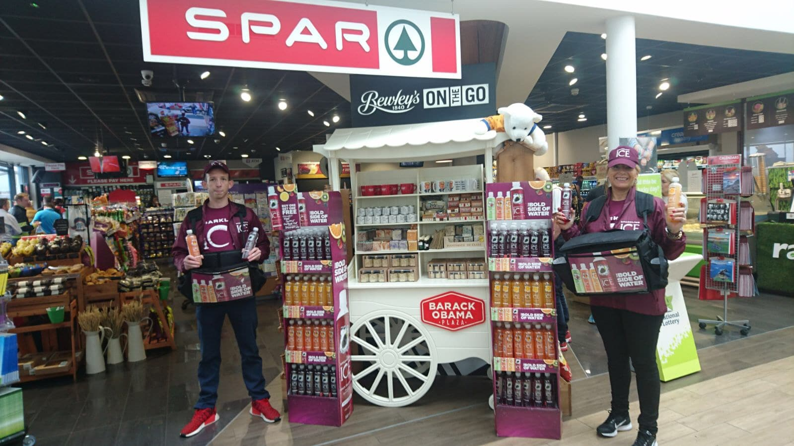 Convenience retail sampling at Spar Stores