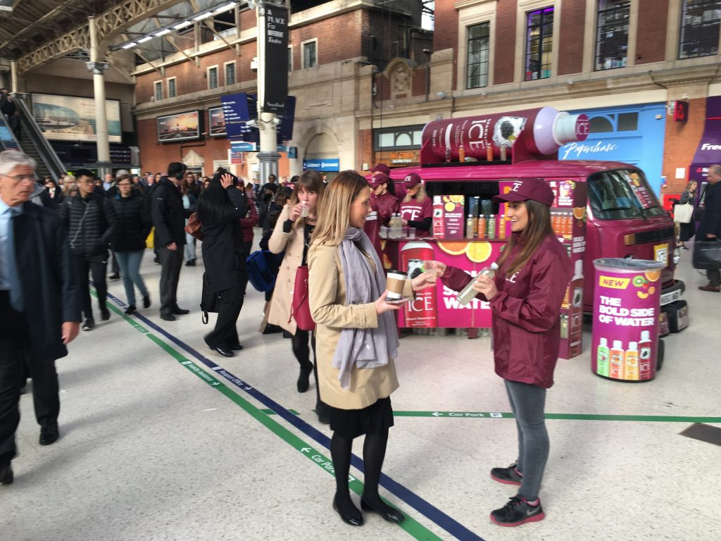 Experiential Marketing Product Sampling Sparkling Ice - C Retail Case Study in Supermarkets