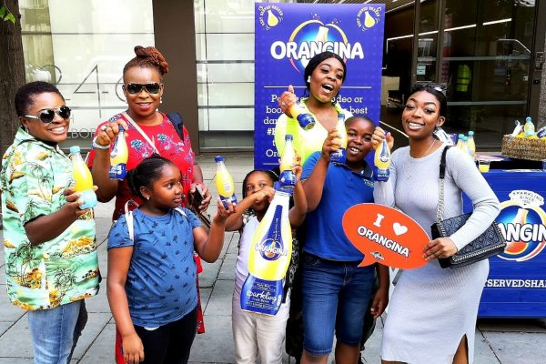 orangina product sampling campaign at sainsbury's