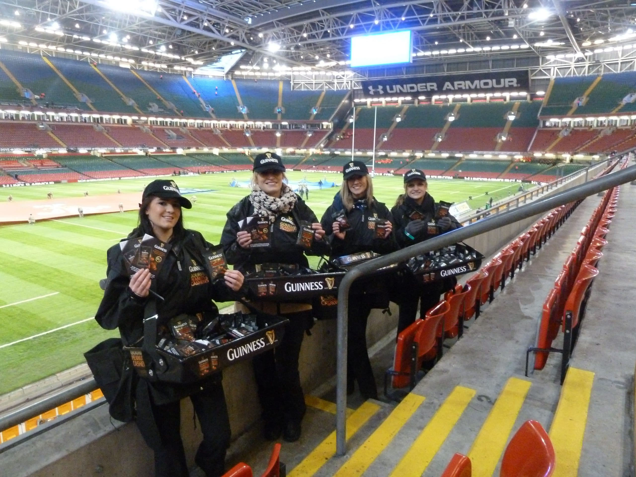 Experiential Marketing Product Sampling Guinness Nuts - Tactical Roaming Sampling Rugby Sports Events Fixtures