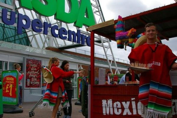 Mexicana Supermarket Product Sampling Experiential Marketing Asda Leeds