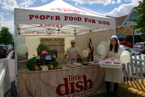 Experiential Marketing Product Sampling Little Dish, Promotional Supermarket