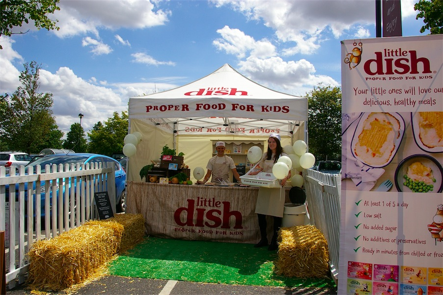 Pop up display area promoting Little Dish