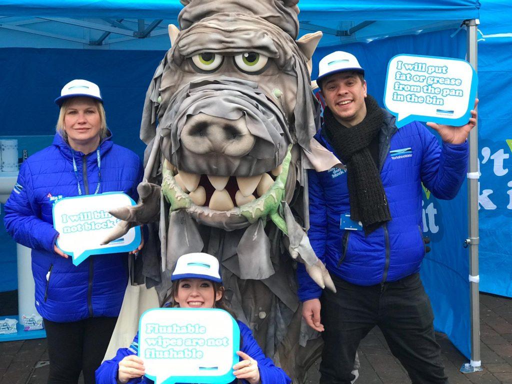 Yorkshire Water Brand mascot Wipesaur