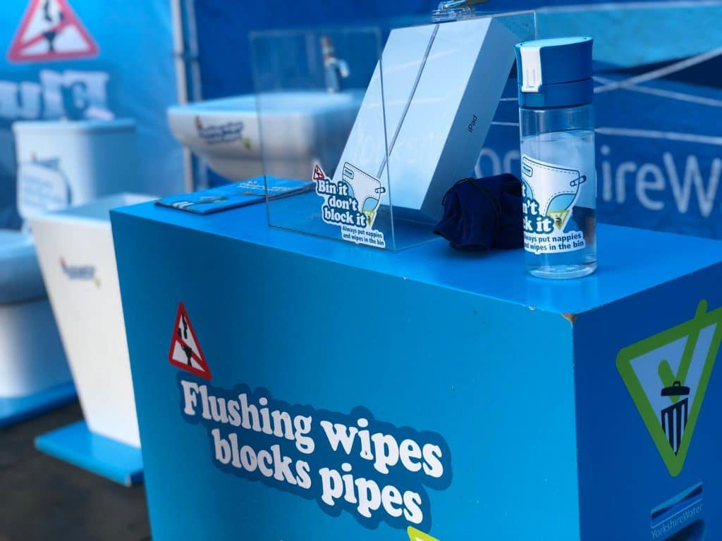 interactive water shakers showing wipes do not disolve