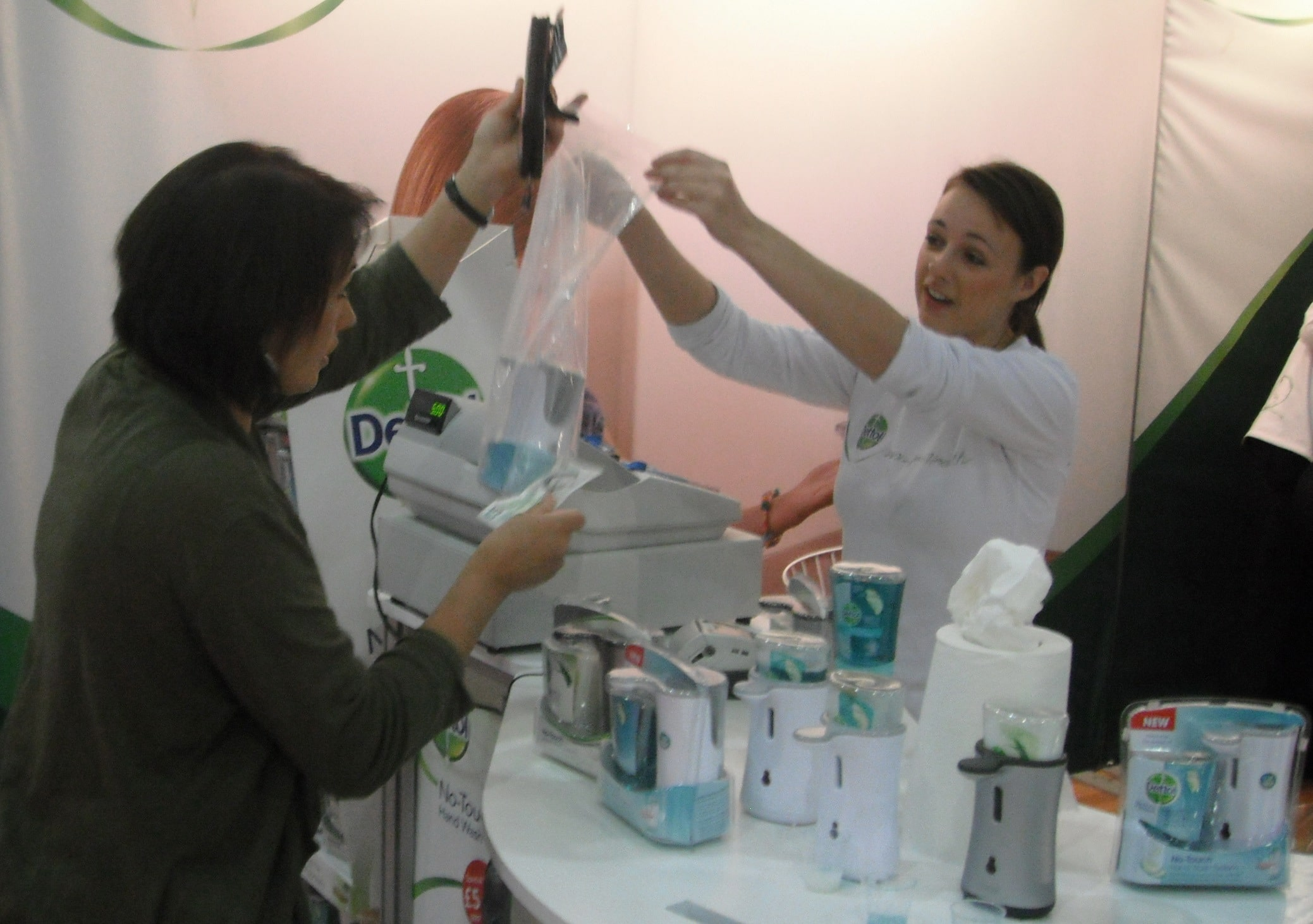 Product demonstration of Dettol No-Touch at The Ideal Home Show
