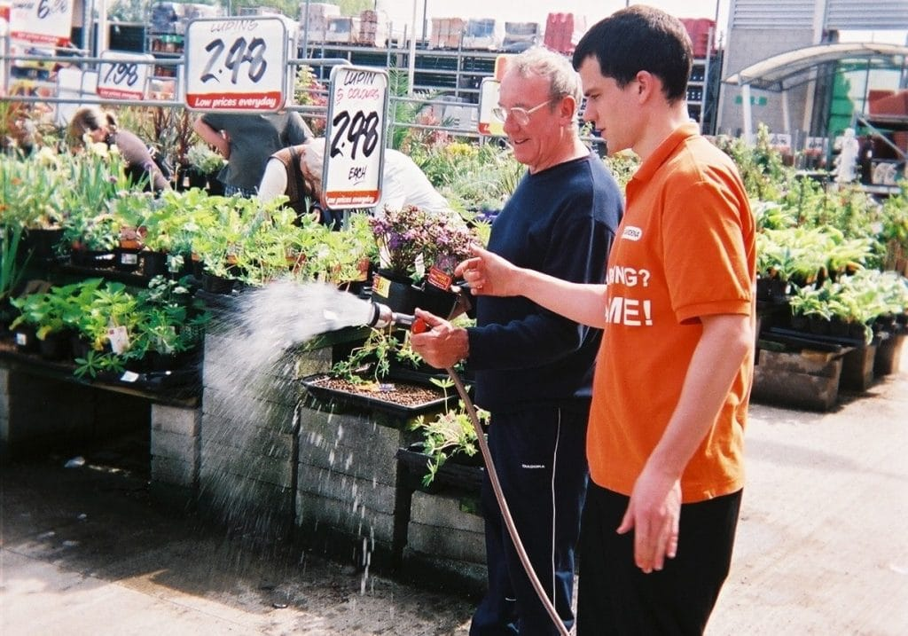 Gardena product demonstration B&Q