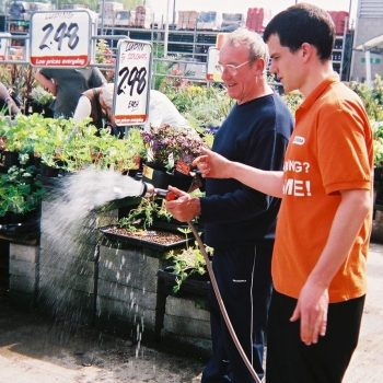 Gardena product demonstration B&Q
