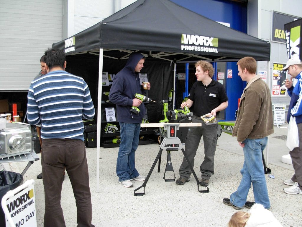 Product demonstration at Screwfix
