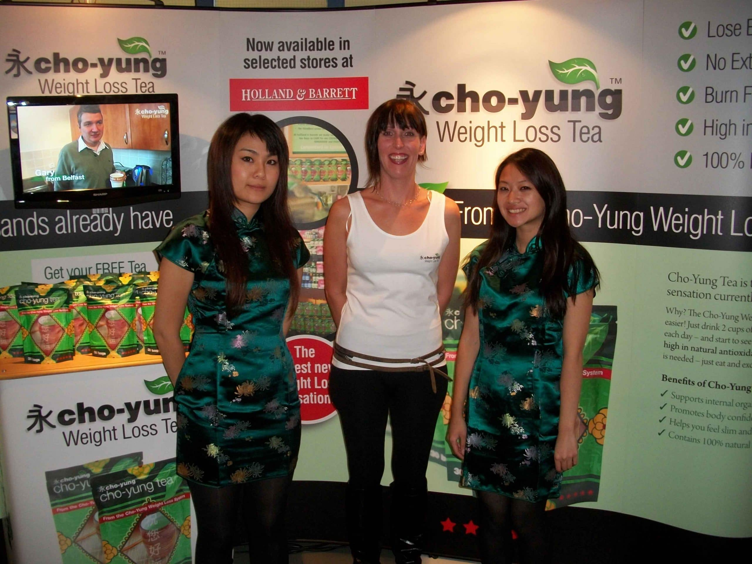 Low Chow Yung Chinese Weight Loss Tea Experiential Marketing Product Sampling, marketing campaign, active campaign, promotion, shopper marketing, event staffing