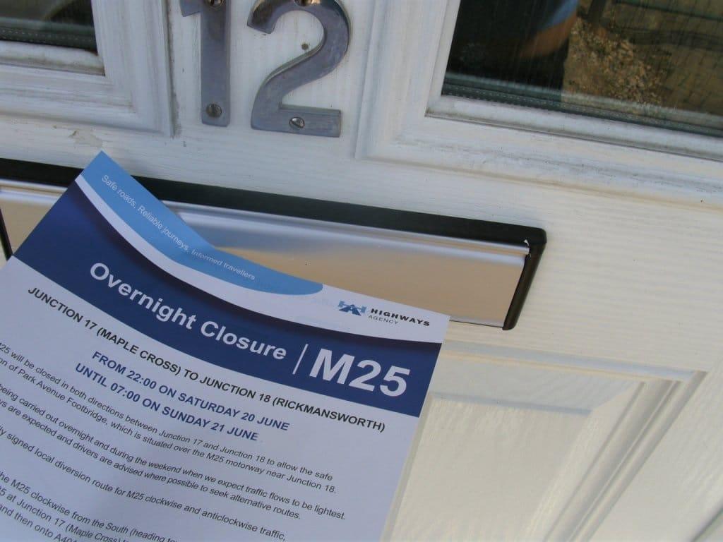 Door to door safe sampling product demonstration Highways Agency Case Study