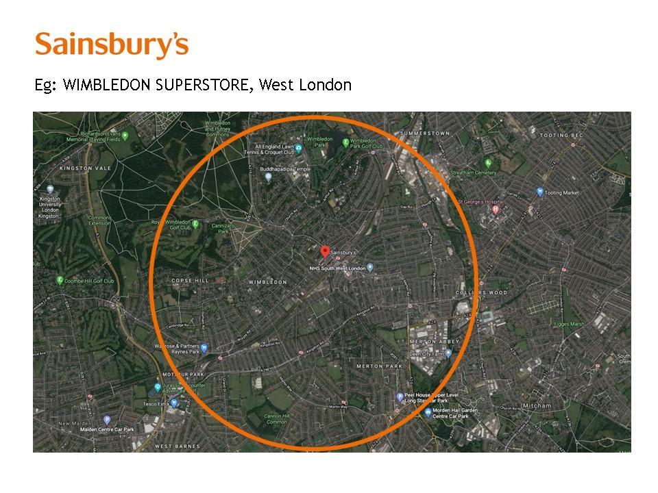 Sainsburys - door to door residential sampling