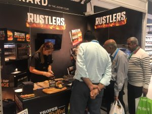Exhibition staffing, stand design, experiential Marketing production Sampling Rustler's - Booker Expo