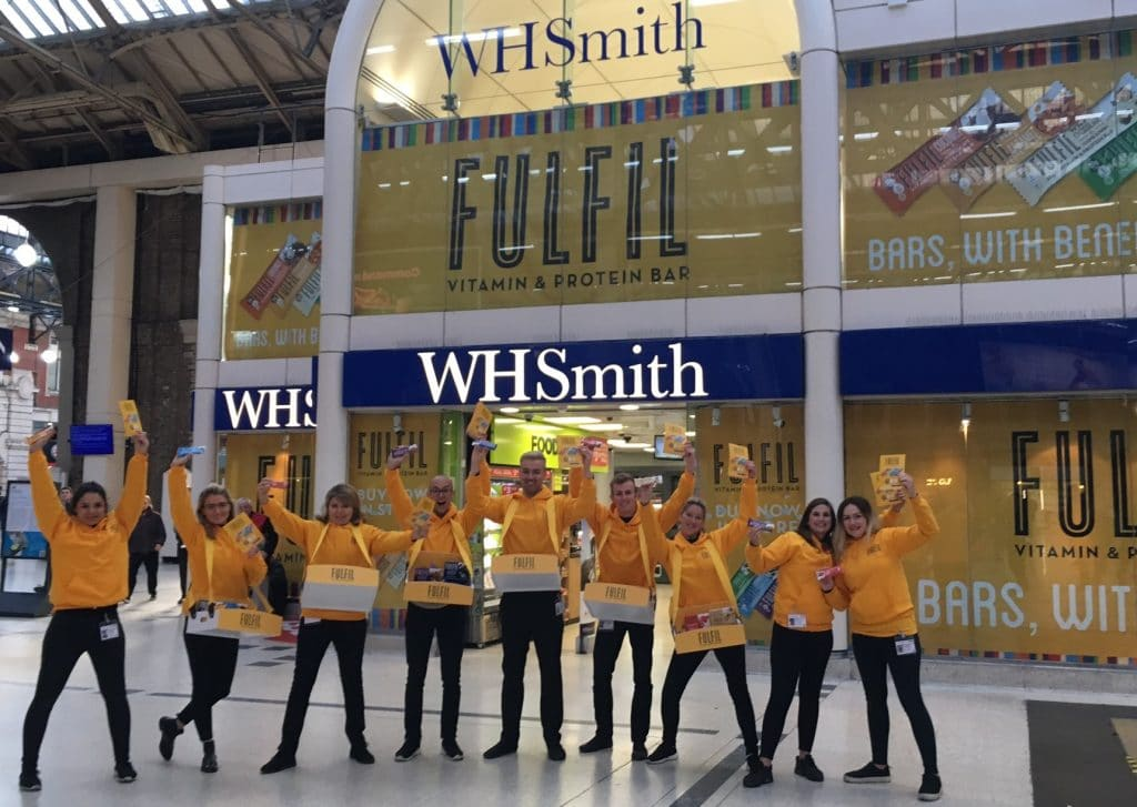 WHSmiths - Sampling for Fulfil Nutrition
