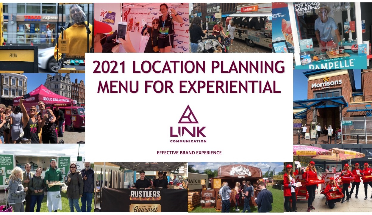 2021 LOCATION PLANNING MENU FOR EXPERIENTIAL