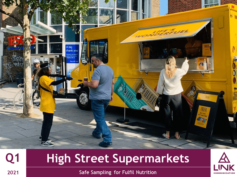 4 High Street Supermarkets Safe Sampling for Fulfil Nutrition