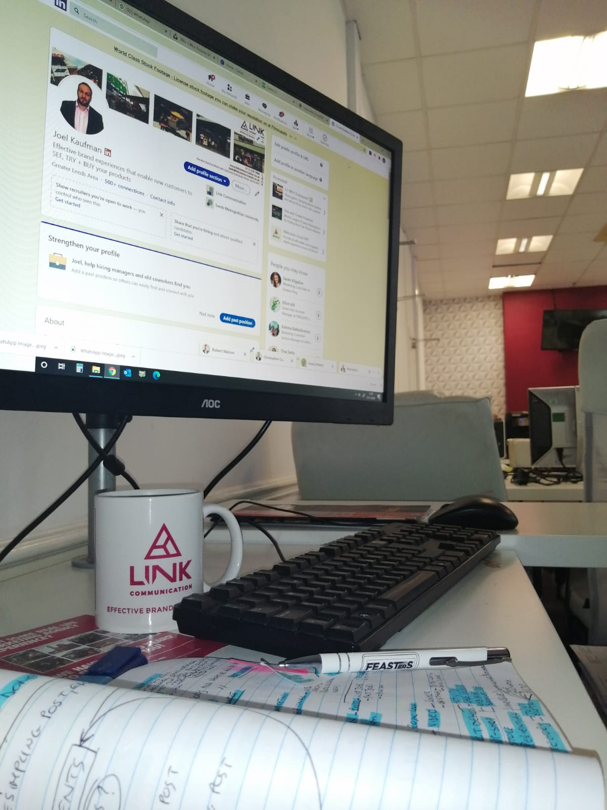 Link Communication Office Pudsey Placements Work Marketing Experience Safe Sampling