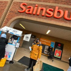 Supermarket Sampling & Sales Activation at Sainsbury Supermarket with Mighty Pea, promotion, Experiential Sampling at Tesco Supermarkets, shopper marketing, Tesco shopper agency, retail marketing agency, examples