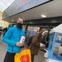 Tesco Supermarket - safe sampling for Mighty Pea