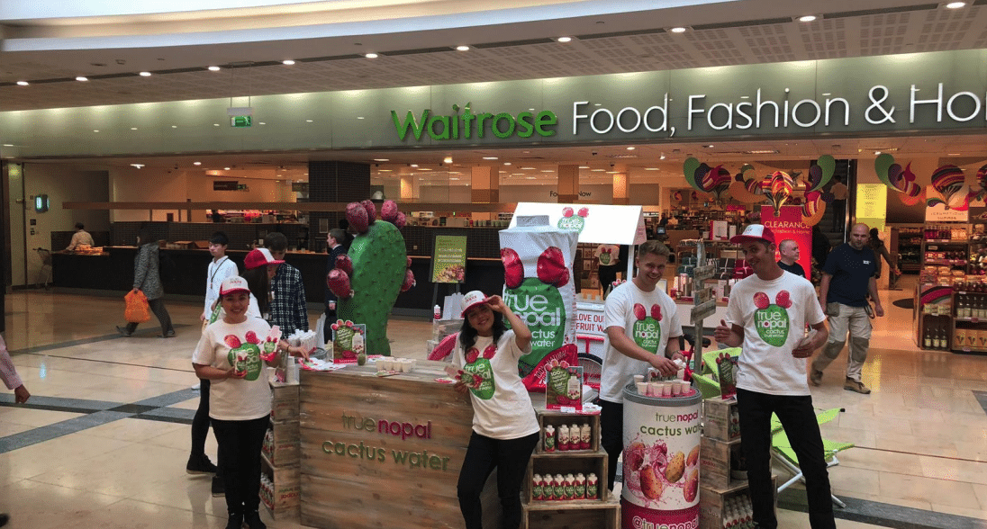 Experiential Marketing With True Nopal in Waitrose Supermarkets, shopper marketing, Waitrose shopper agency, retail marketing agency, examples