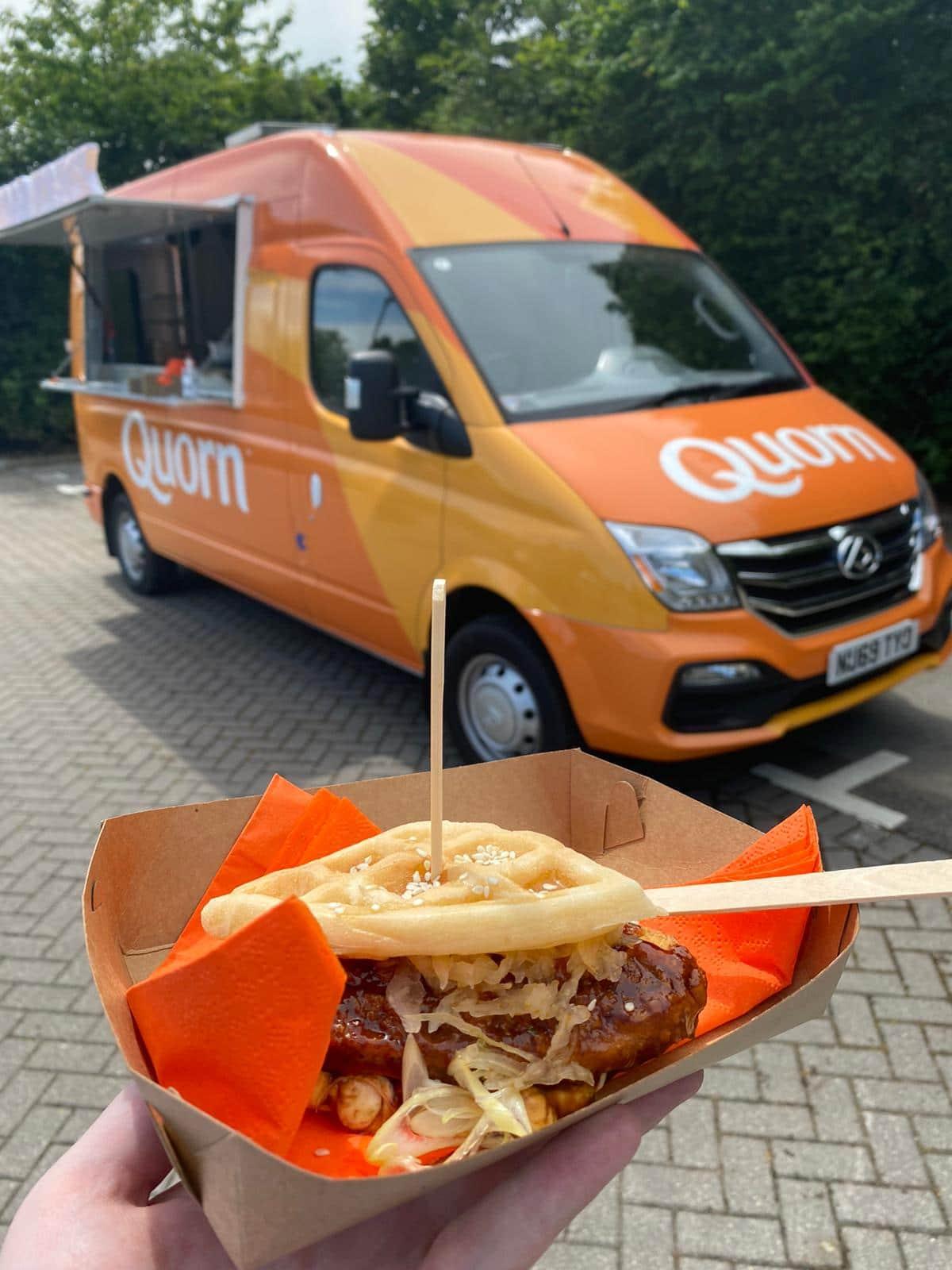 Quorn fully electric food truck sampling van